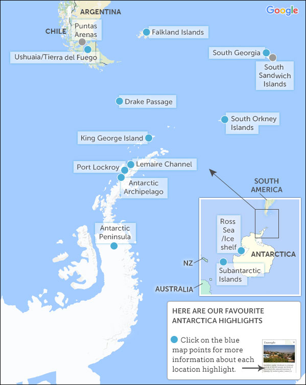 Where to go in Antarctica. Antarctica highlights and best places to ...