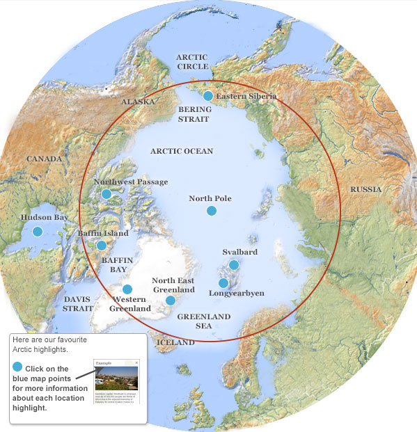Arctic Cruise Itineraries Arctic Highlights And Best Places To Visit - Hudson bay on world map