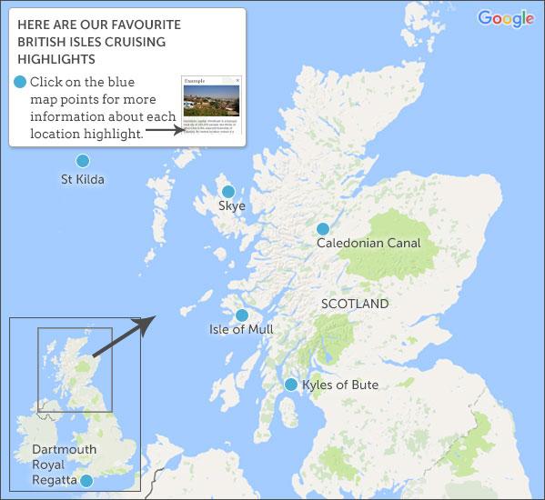 Places to visit on a British Isles cruising holiday British Isles