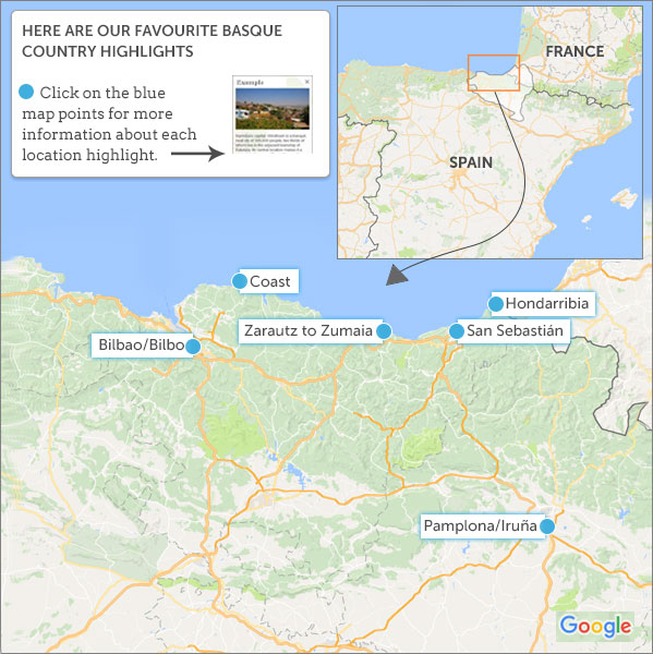 Basque France Map.Basque Country Travel Guide Helping Dreamers Do