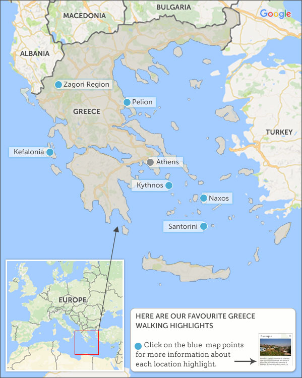 Greece walking holidays travel guide Helping Dreamers Do
