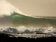 Cotillo wave on Fuerteventura. Photo by Peter Brabants Natural Surf Camp