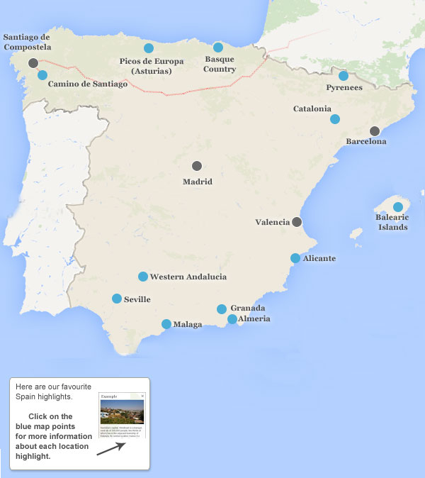 Map Of The Spain.Places To Visit In Spain Spain Highlights And Best Places To Visit