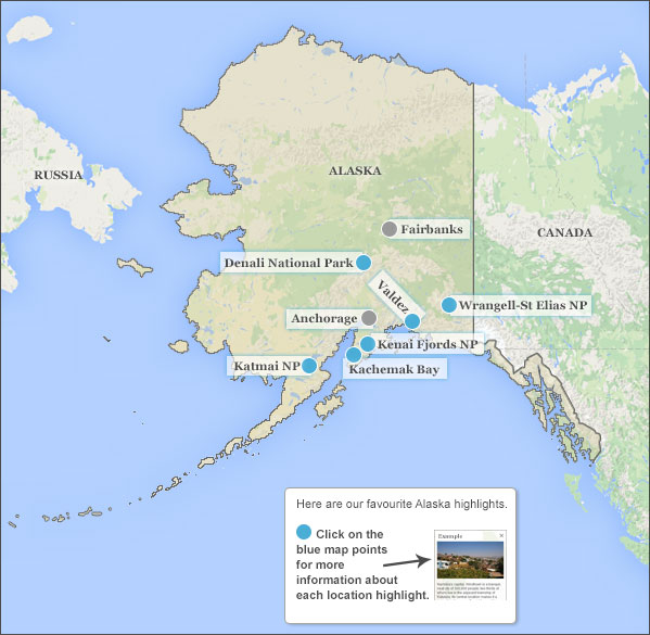 Alaska Holidays Travel Guide - Mt mckinley on us map