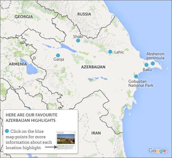 Azerbaijan Travel Guide Responsible Travel Guide To Azerbaijan - Azerbaijan map