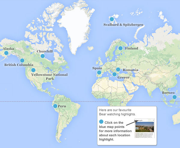 Where Is Spain On The Map Of The World.Where To See Bears Responsible Travel Guide To Bear Watching And
