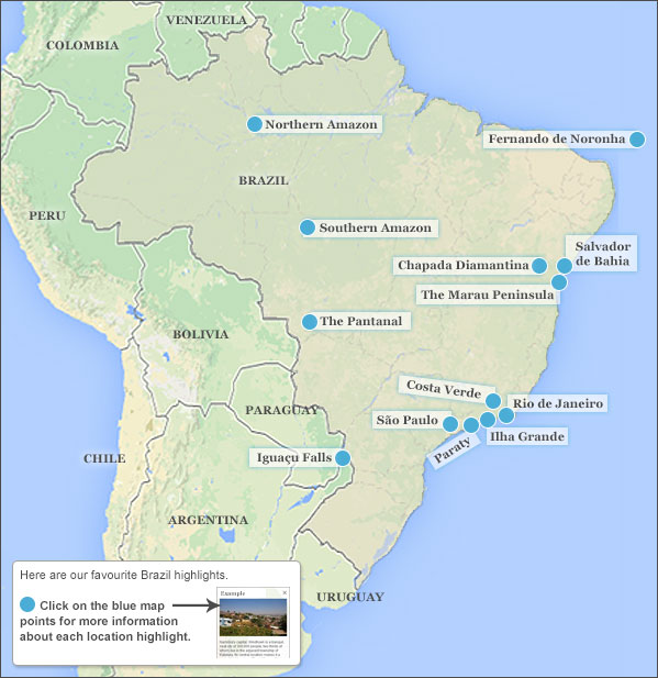 Brazil highlights & itineraries. Responsible travel guide to ...