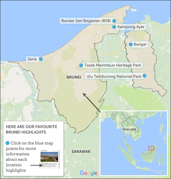 Brunei Travel Guide Helping Dreamers Do - Brunei map