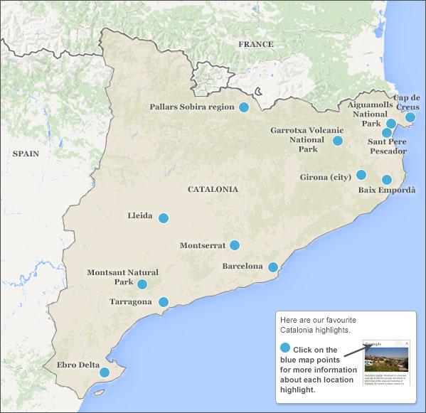 Catalonia highlights Catalonia highlights and travel itineraries
