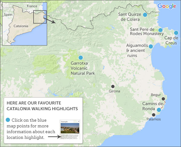Catalonia walking holidays Responsible travel guide to Catalonia