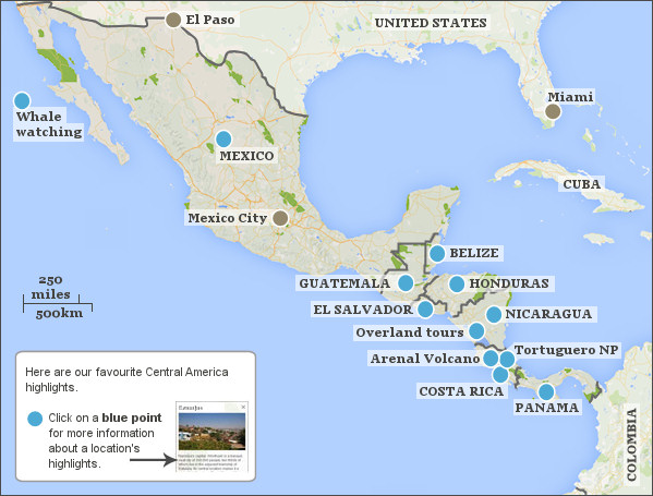 Central America itineraries. Responsible travel guide to Central ...