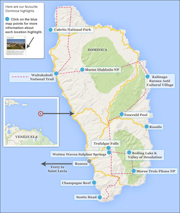 Places to visit in Dominica on