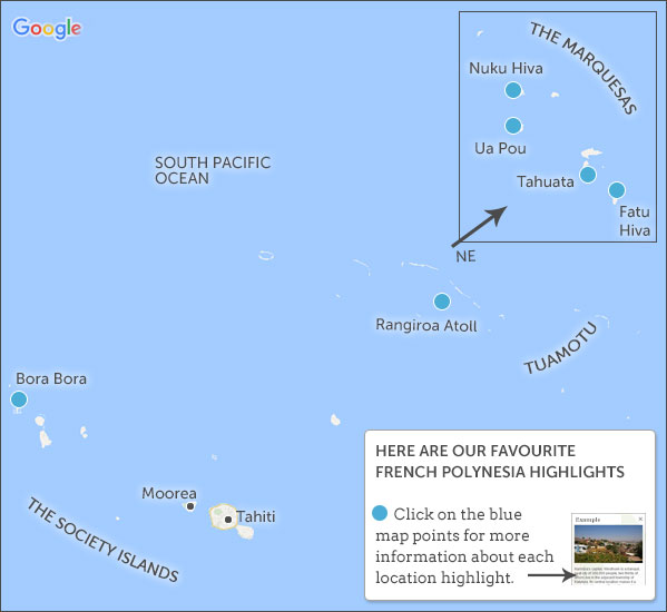 French Polynesia Travel Guide Responsible Travel Guide To French - French polynesia map