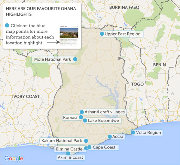 Where to go in Ghana. Helping Dreamers Do.