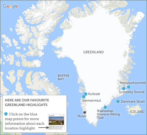 Greenland Travel Guide Responsible Travel Guide To Greenland - Greenland map