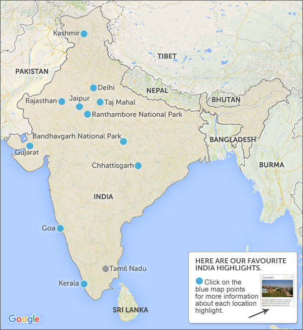 Bears Ears Map >> Where to go in India. India highlights and best places to go