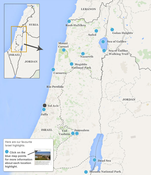 Places To Visit In Israel Israel Highlights And Best Places To Visit - Israel map
