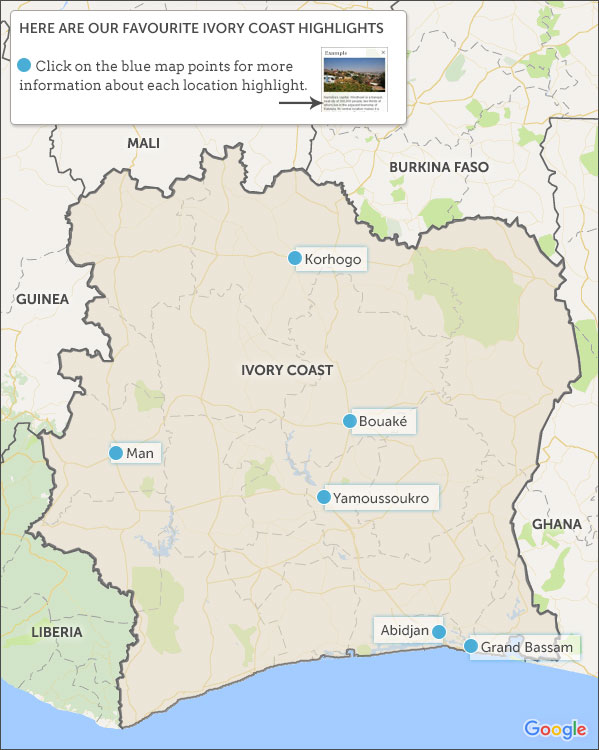 Ivory Coast travel guide. Helping Dreamers Do