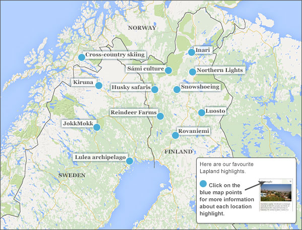 Where To Go In Lapland Make The Most Of Your Time - Sweden lapland map