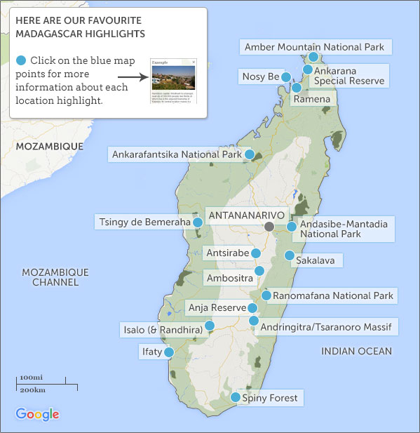 Madagascar Itineraries Maps Plan Your Madagascar Itinerary - Madagascar map