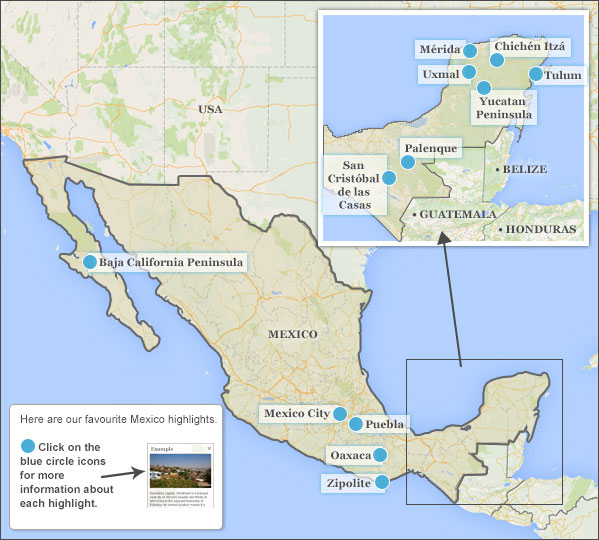 Mexico highlights  itineraries Responsible travel guide to