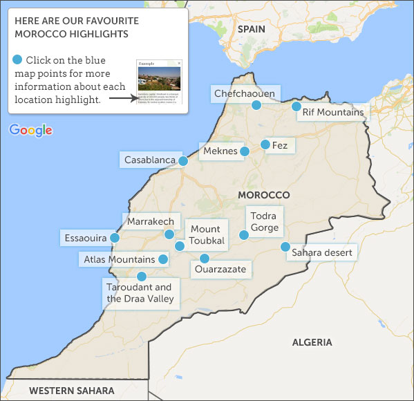 Where to go in Morocco. Morocco highlights and travel itineraries