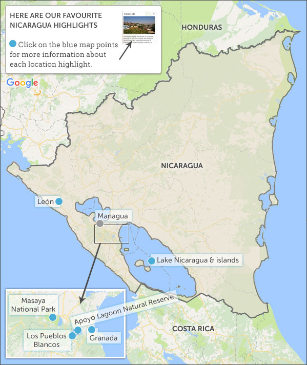 Nicaragua Travel Guide Helping Dreamers Do - Nicaragua location on world map