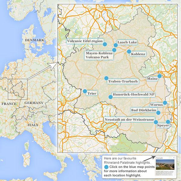 Neustadt Germany Map.Rhineland Palatinate Map