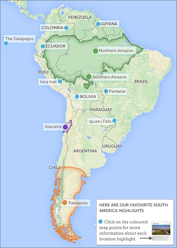Argentina Travel Information Places To Visit In: South America Tourist Map At Usa Maps