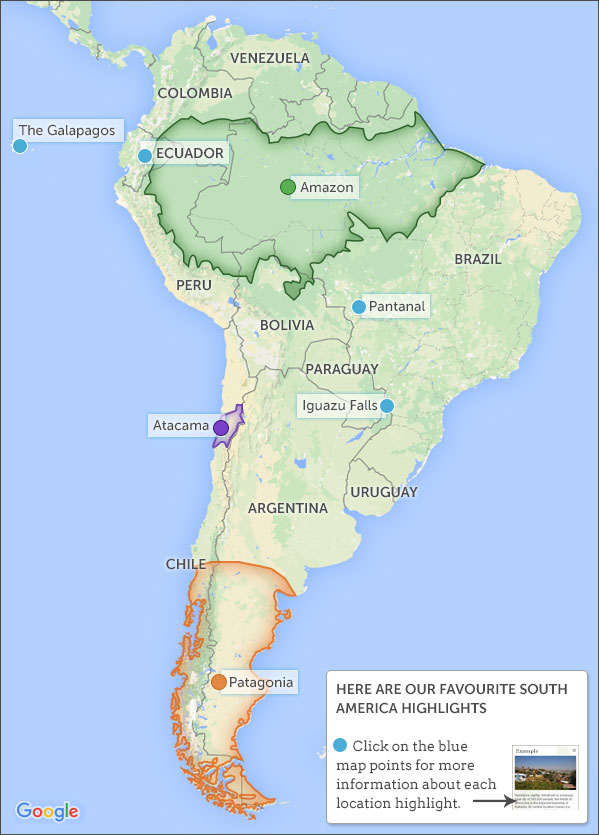 Best Time To Visit South America Responsible Travel Guide To When - South america map brazil