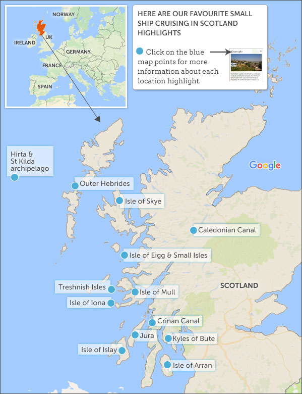 Where to go on a Scotland small ship cruise Helping Dreamers Do