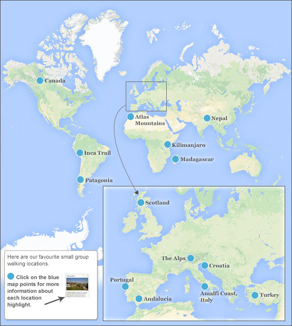 Where to go on a small group walking holiday. Travel guide on where ...