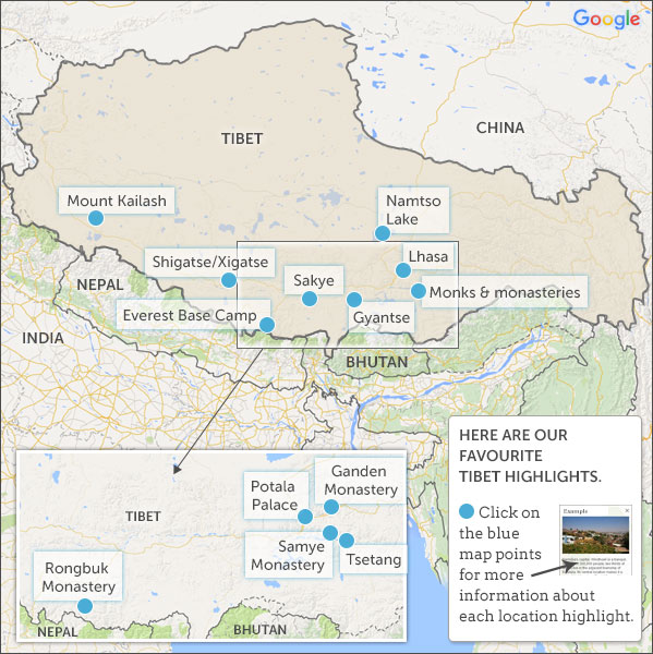 Nepal Tibet Karte.Tibet Map Highlights Helping Dreamers Do