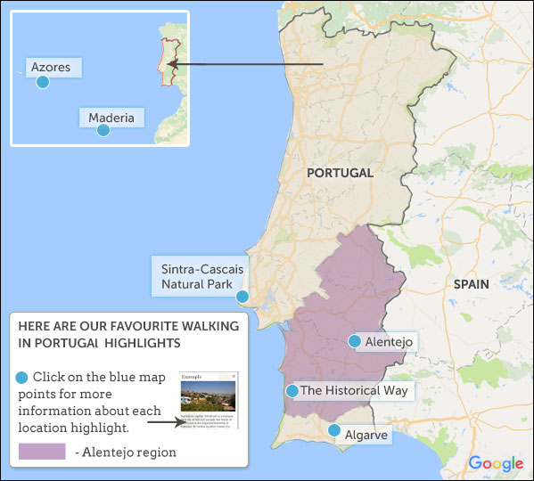 Where To Walk In Portugal Helping Dreamers Do - Portugal historical map