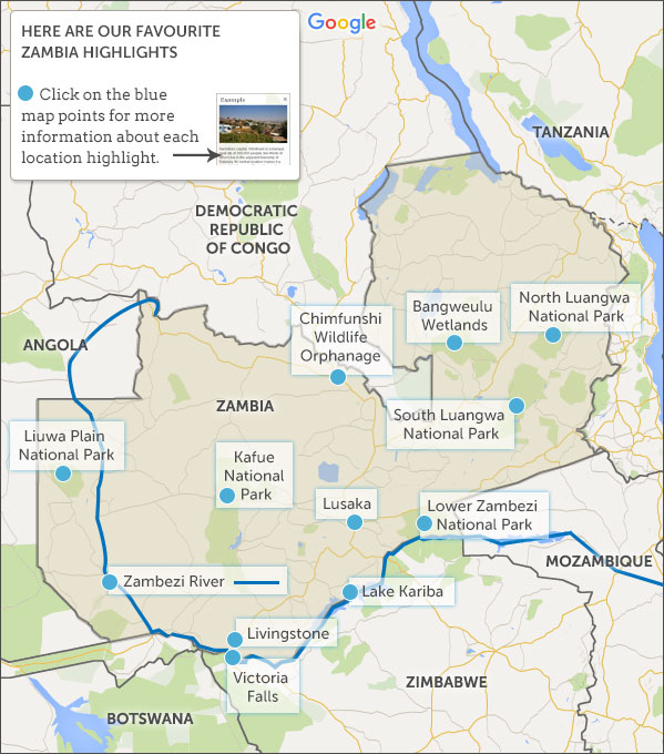 Zambia map highlights Helping Dreamers Do