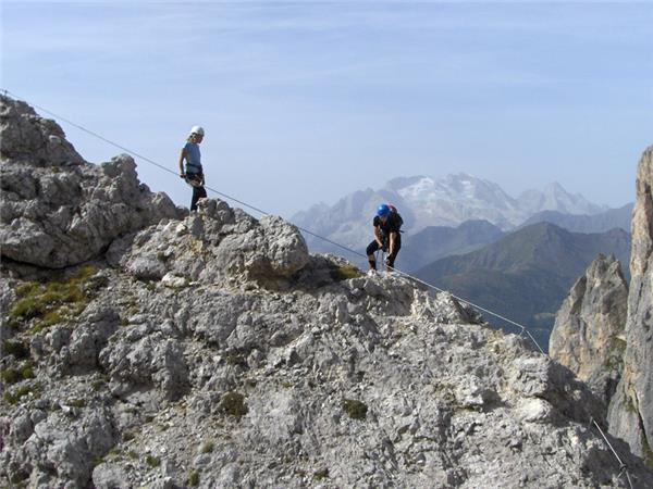 Via Ferrata walking holiday in the Dolomites, Italy