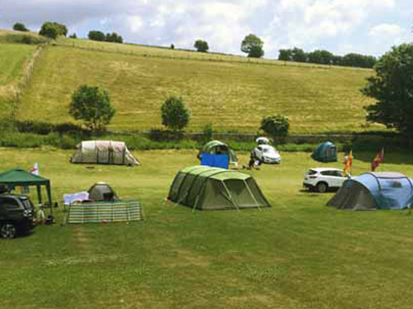 South Downs Way campsite, nr Lewes, England