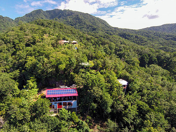 Dominica off-grid luxury eco cottages