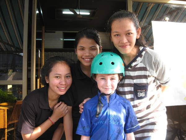Cambodia family cycling holiday