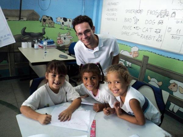 Teach children in Brazil