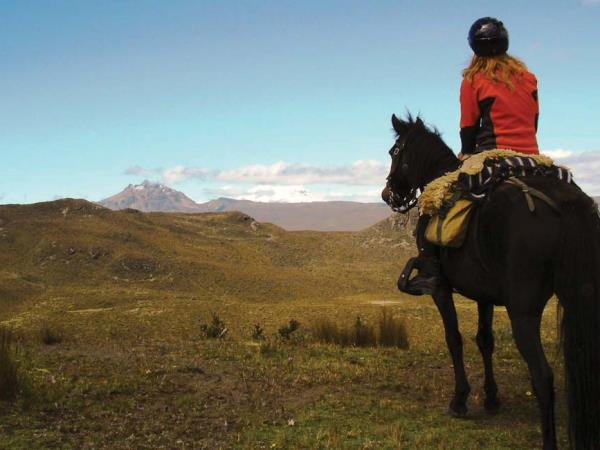 Horse riding in Ecuador