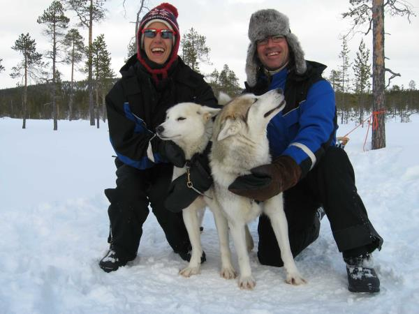 Finnish Lapland winter holiday, husky safari