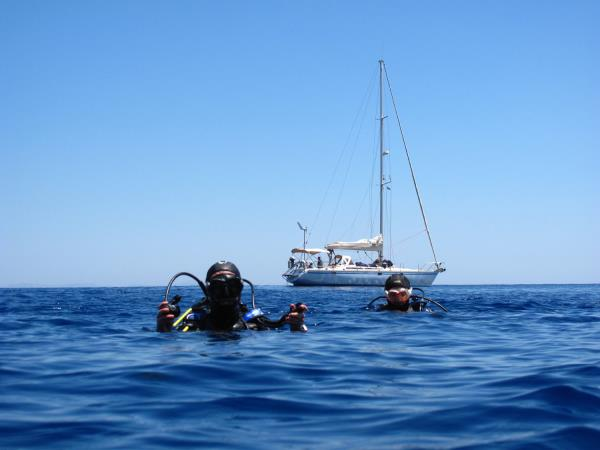 Liveaboard diving and sailing holiday in Greece