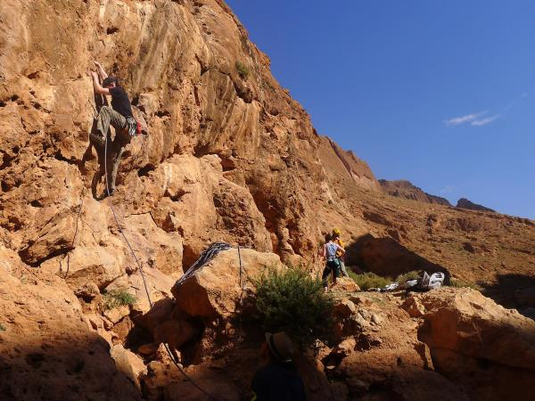 Rock climbing holiday in Morocco