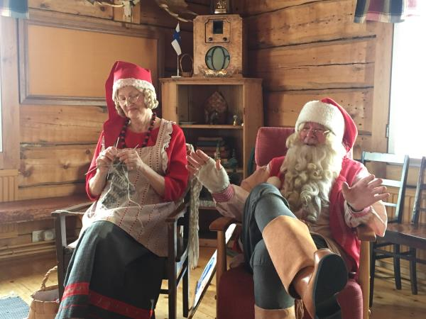 Family winter holiday in Lapland with Father Christmas