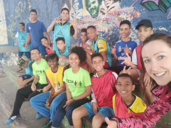 Sports coaching volunteering in Brazil