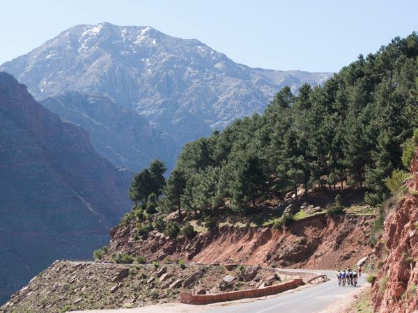 Marrakech to Oukaimeden charity bike ride in Morocco