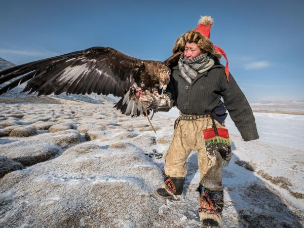 Eagle hunter homestay in Mongolia