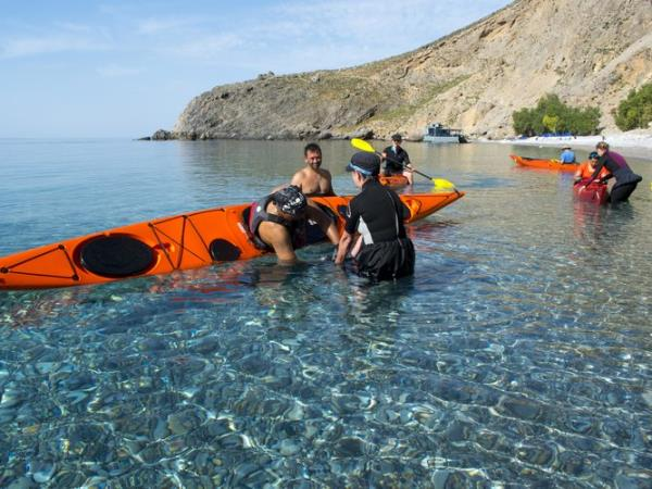 Kayaking skills holiday Crete, Greece