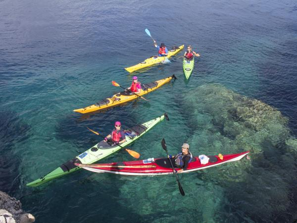 Ithaca sea kayaking shills holiday, Greece